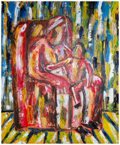 On Grand Ma's Lap by John Pipere
