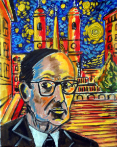 Ennio Morricone at Spanish Step's Rome by John Pipere