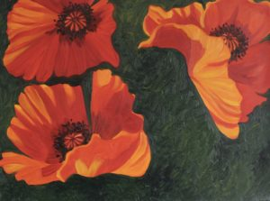 Dancing Poppies III by CLARE GRAVENELL