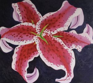 Oriental Lily by CLARE GRAVENELL
