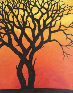Tree Silhouette by CLARE GRAVENELL