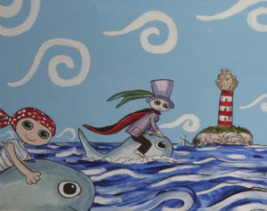 Dolphin Riders by Christopher Hoggins