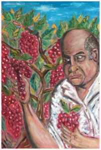 Pasquale Picking Grapes by John Pipere