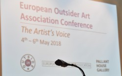 Photograph of the presentation at the conference