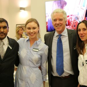 Raki Chowdhury with Outside In's Cornelia Marland, Charles Rolls and Dannielle Hodson