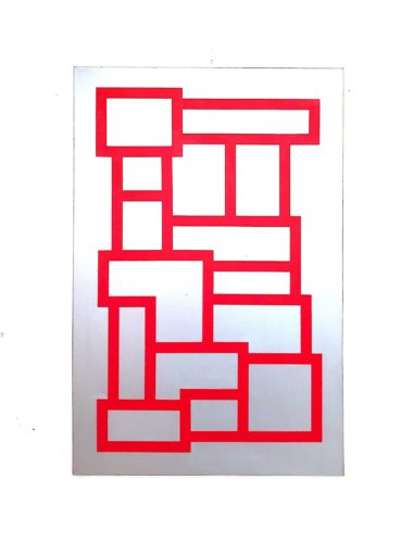Red And Silver Blocks by Grade One
