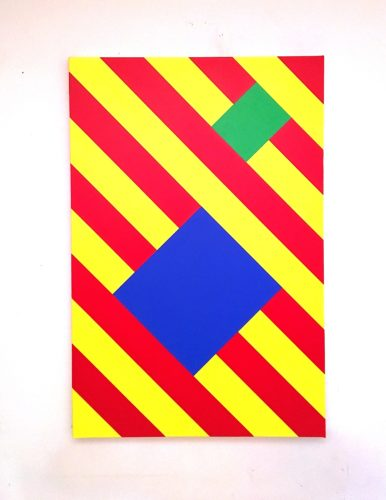 Abstract Blue Box by Grade One