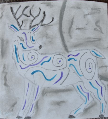 Moon Stag by Ceridwen Powell