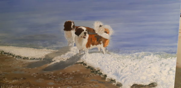 Friends on the Beach by Thomas Stimpson