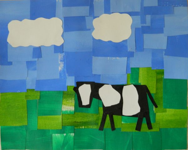 Cow Collage by Ceridwen Powell