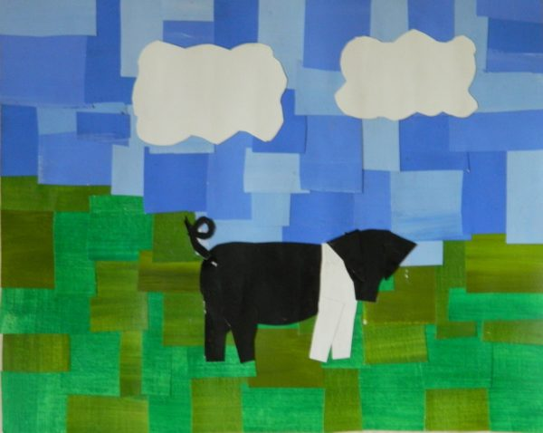 Pig Collage by Ceridwen Powell