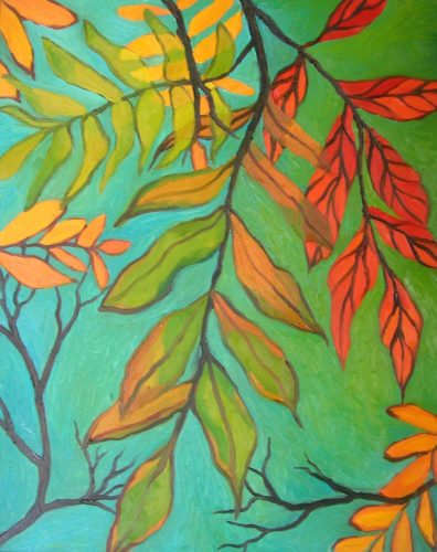 Autumn Leaves by CLARE GRAVENELL