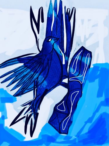 The Blue Bird series inspired by the white cliffs of Dover by Juliette Goddard