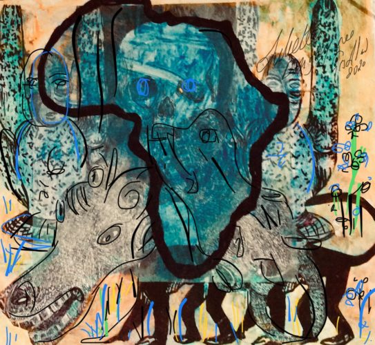 Tribal effects arts inspired by Africa culture by Juliette Goddard