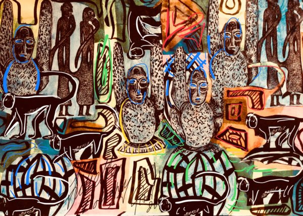 Tribal effects inspired by the art of Africa. by Juliette Goddard