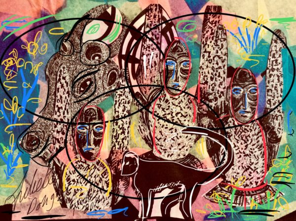 art inspired by the tribal effects of Africa by Juliette Goddard