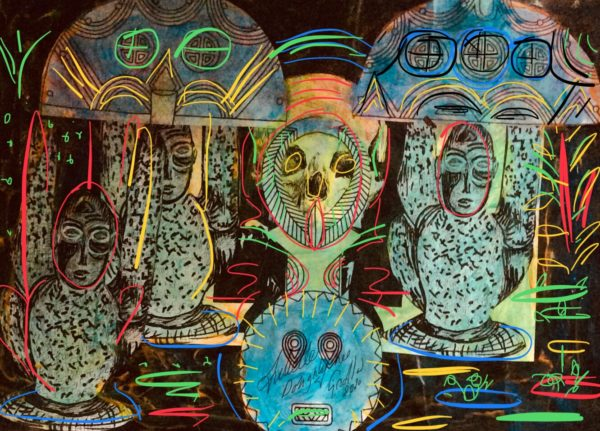Art inspired by Africa tribalism and effects.. by Juliette Goddard