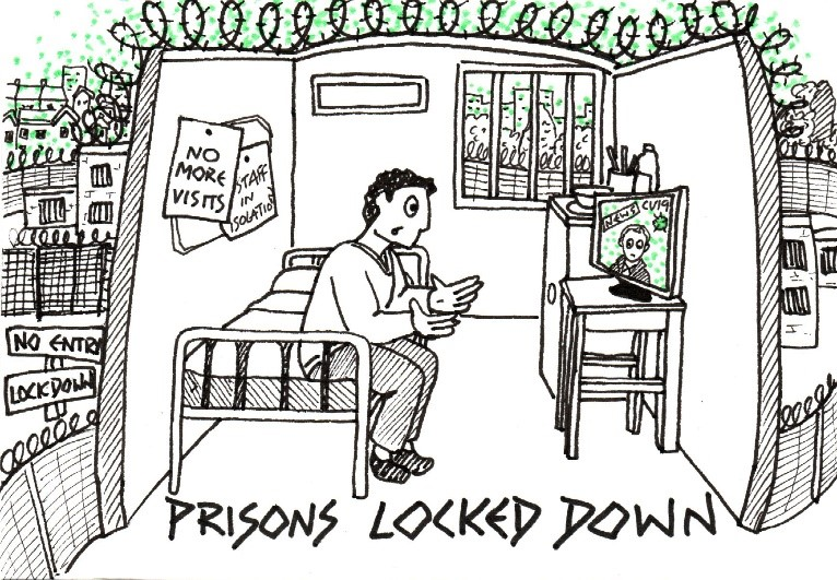 This image has an empty alt attribute; its file name is Prisons-locked-down-Covid-postcard.jpg