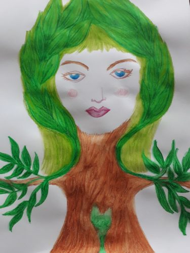 Our-Lady-of-the-Green-Heart by Maddie Millett Ceramics