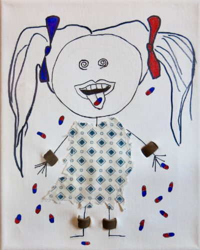 Girl In Restraints Spits Her Medication Out by Susan Spangenberg