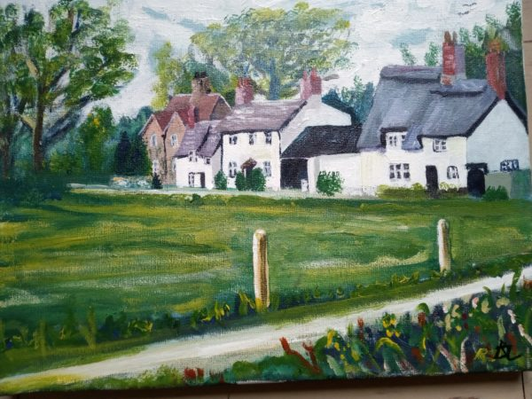 Houses by the Perch in Oxford by Richard Laws