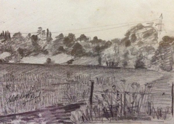sketches in the landscapes by Juliette Goddard