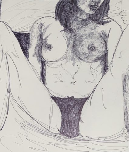 Untitled July VI 2021 (uncollected commissioned nude) by Duncedan