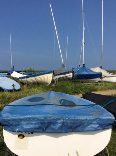 The Boats at Brancaster by Juliette Goddard