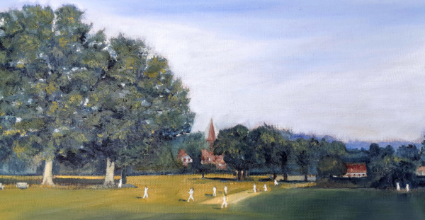 Cricket on the Green by Thomas Stimpson