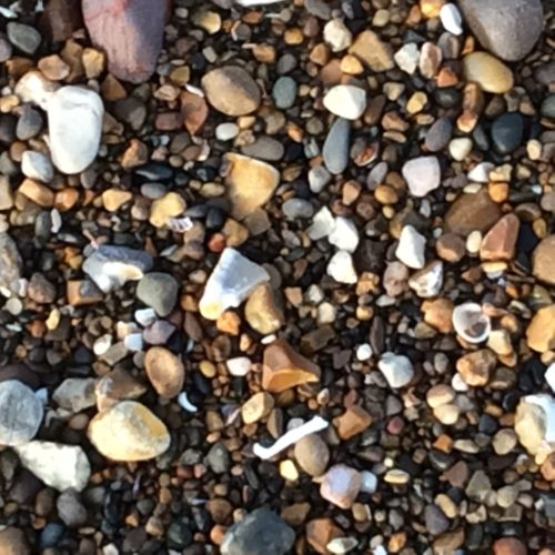 Pebbles on the beaches by Juliette Goddard